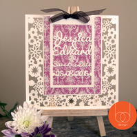 Customisable Die Cut Save the date card Invitation