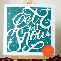 Let it Snow Typography Card