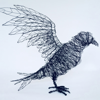 Wire Sculpture of a Crow