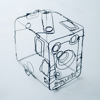 Box Brownie Camera Wire Sculpture