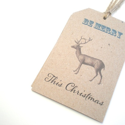 Rustic Christmas Gift Tags - Be Merry This Christmas