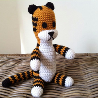 Harold the imaginary tiger friend crochet plush stuffed Hobbes