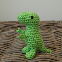 Trevor the tiny T Rex dinosaur, rainbow dinos crochet stuffed plush