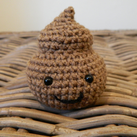 Mister Poop the plush poo, handmade crochet stuffed emoji plush