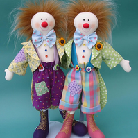 Squiggles Clown Rag Doll Pattern
