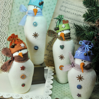 Sprinkles & Snowflake Snowman Felt Pattern - Christmas Decorations