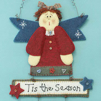 Isabella Angel Felt Pattern - Christmas Decorations