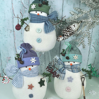 Snowy Friends Snowman Felt Pattern - Christmas Decorations