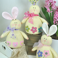 Honey Bunnies Felt Pattern - Easter Decorations