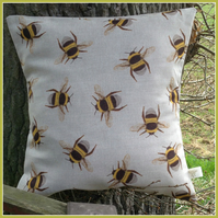 Beautifully vibrant  Bee Swarm  Cushion with feather pad