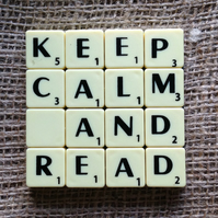 Word Art Coaster- KEEP. CALM, AND, READ