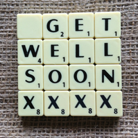 Word Art Coaster- GET, WELL, SOON, XXXX