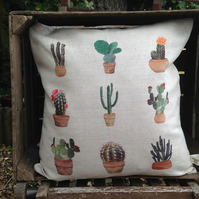 Cactus Multi pattern Cushion with feather insert