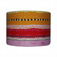 Lampshade with Retro Rainbow stripes nursery Lamp Shade Summer Decor