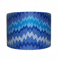 Blue Geometric Nursery Lampshade, Boys bedroom decor