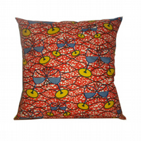 Ankara Cushion, Burnt Orange, Clinking wine glasses African Cushion