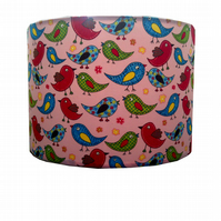 Birds Lampshade Red Blue Green Mini Birds newborn baby nursery tweety birds