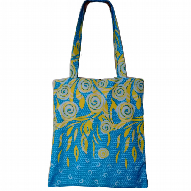 Tote Bag African tote bag  Floral Tote Bag  Book Bag Spring Fashion  Flowers