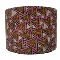 Geometric Triangle Lampshade in brown & pink, Kids lighting, nursery room decor