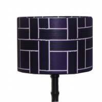 Lampshade Fathers Day Gift Idea Retro Tiles Blueberry Purple Mid Century Modern