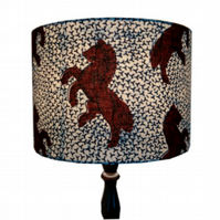 Lampshade with Jumping Horse Gift Blue Dark Red Lamp shade Spring Summer Decor