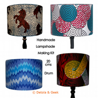 DIY Lampshade Craft Kit, Christmas gift, 20cm Drum Lamp shade, Crafters gift
