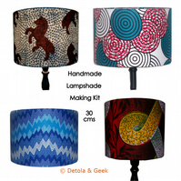 Lampshade Making Kit, 30cm Drum Lamp Shade, Craft DIY Kit, Detola And Geek