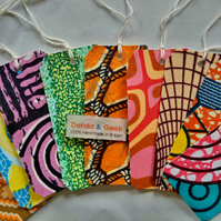 Mixed set of 10 gift tags, African gift tags