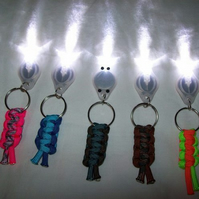 LED paracord keyring torches