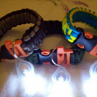 "Paracord ""Survival"" Bracelets with LED torch"