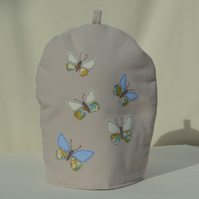 Cafetiere Cosy Butterfly Nature Wildlife Freehand Machine Embroidery
