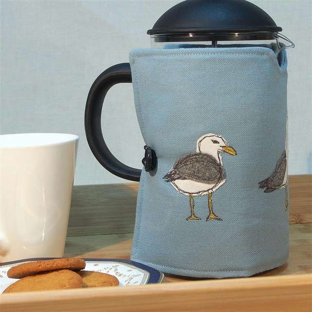 Cafetiere Cosy Seagulls Nature Wildlife Coastal Seaside Mothers Day Gift