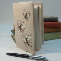 SALE ITEM A6 Notebook Cover Butterfly Handmade Nature Wildlife