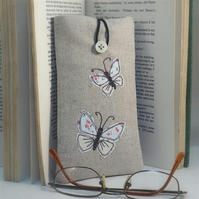 Glasses Case Handmade Butterfly Nature Wildlife