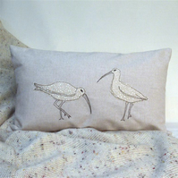 Cushion Curlew Handmade Nature Wildlife Seabird Coastal Fathers Day
