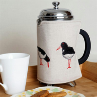 Cafetiere Cosy Oyster Catcher Nature Coastal Seaside Mothers day Gift