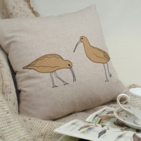 Cushion Curlew Handmade Nature Wildlife Seabird Fathers Day Gift