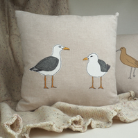 Cushion Seagull Nature Wildlife Seabird Coastal