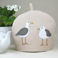 Tea Cosy Seagull Nature Wildlife Freehand Machine Embroidery Fathers Day