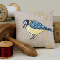 Pin Cushion Blue Tit Bird  Wildlife Nature