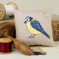 Pin Cushion Blue Tit Bird  Wildlife Nature Bird
