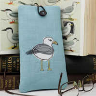 Glasses Spectacles Case Handmade Seagull Nature Wildlife Seaside Coastal Bird