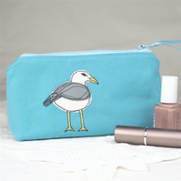 Make Up Bag Cosmetics Bag Seagull Nature Wildlife Seaside Coastal Bird
