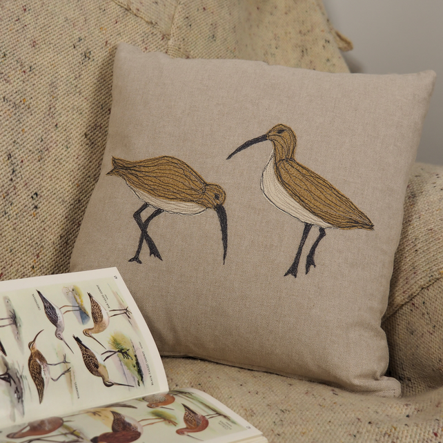 Cushion Curlew Handmade Nature Wildlife Seabird Coastal