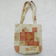 Terracotta Abstract print tote bag