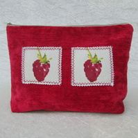 Raspberries toiletry bag