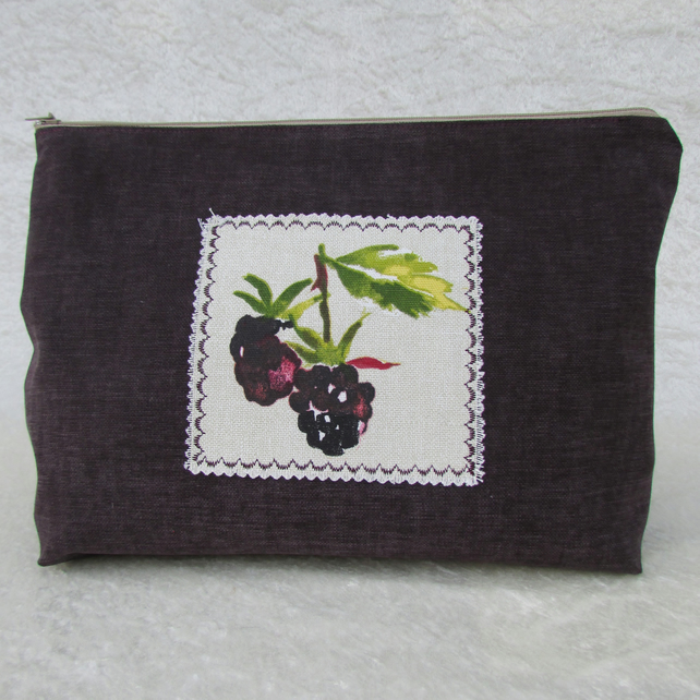 SALE - Blackberries toiletry bag