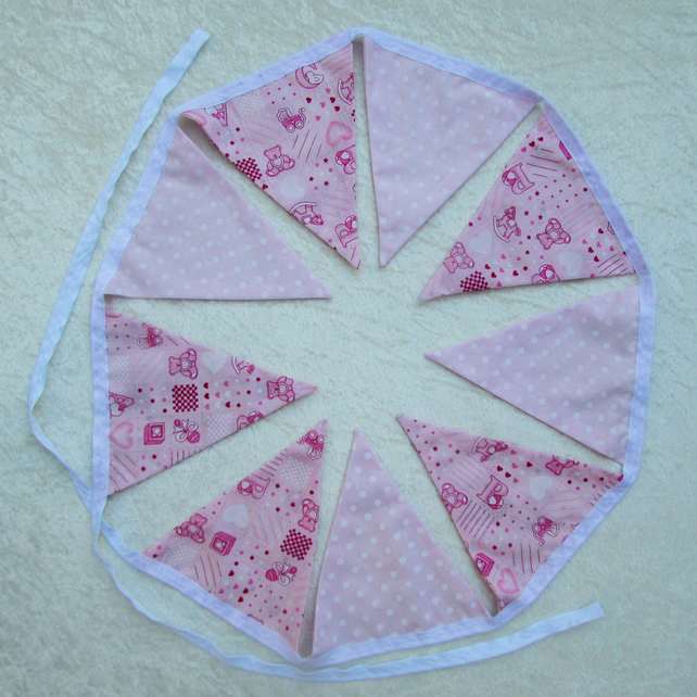 SALE - New baby girl bunting