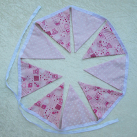 SALE, New baby girl bunting, pink bunting