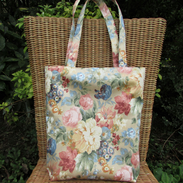 Tote bag - Summer Roses and flowers